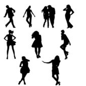 Adults Silhouettes — Stock Photo