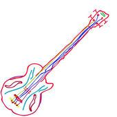 çizim gitar — Stok fotoğraf