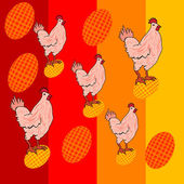 Illustrazione di pollo cute — Foto Stock