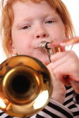 Trombone player — Stock Photo