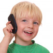 Boy with cell phone — Stock Photo #8146607
