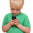 Boy with cell phone — Stock Photo #8146615