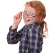 Girl wearing glasses — Stock Photo