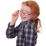 Girl wearing glasses — Stock Photo