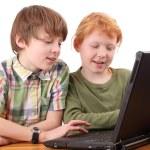 Computer kids — Stock Photo