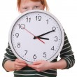 Stock Photo: Girl with a clock