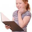 Girl with a book — Stock Photo #9086192