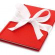 Notepad with white bow - Stockfoto