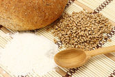 Bread and bakery ingredients — Stock Photo