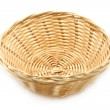 Wicker plate — Stock Photo