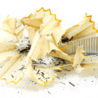 Royalty-Free Stock Photo: Sharpening pencil and wood shavings