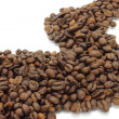 Abstract way of coffee beans — Foto de Stock