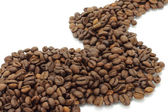 Abstract way of coffee beans — Stock Photo