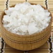 Sesalt in wooden tableware — Stock Photo #8267386