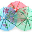 Cocktail umbrellas — Foto Stock