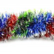 Stock Photo: Color tinsel line