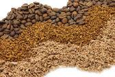 Ralladura de chocolate y café camino — Foto de Stock