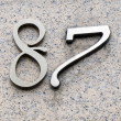 Number eighty seven — Stock Photo