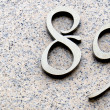 Number eighty nine — Stock Photo