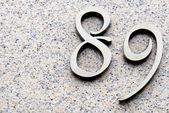 Number eighty nine — Stock Photo