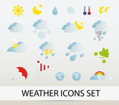Weather icons set — Stock Vector
