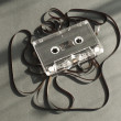 Audio tape cassette with subtracted out tape. — Stock Photo
