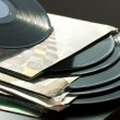 LPs and covers - Stock Photo