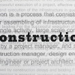 Stock Photo: Construction conception text