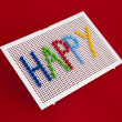 Text Happy on child mosaic — Stock Photo