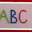 abc alphabet letters — Stock Photo