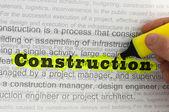 Text construction — Stock Photo
