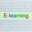 Stock Photo: Typed text E-learning on paper