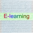Typed text E-learning on paper — Stock Photo