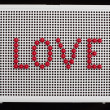 Text love on child mosaic — Stock Photo