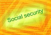 Social security text — Stock Photo