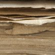 Stock Photo: Old worn paper sheets of book