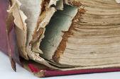 Vecchi fogli di carta usurate del libro — Foto Stock