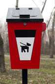 Trash for dog feces — Stock Photo