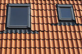 Dormers on a tiled roof — Stock Photo