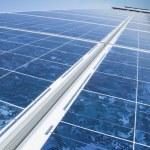 Solar photovoltaic panels — Stock Photo