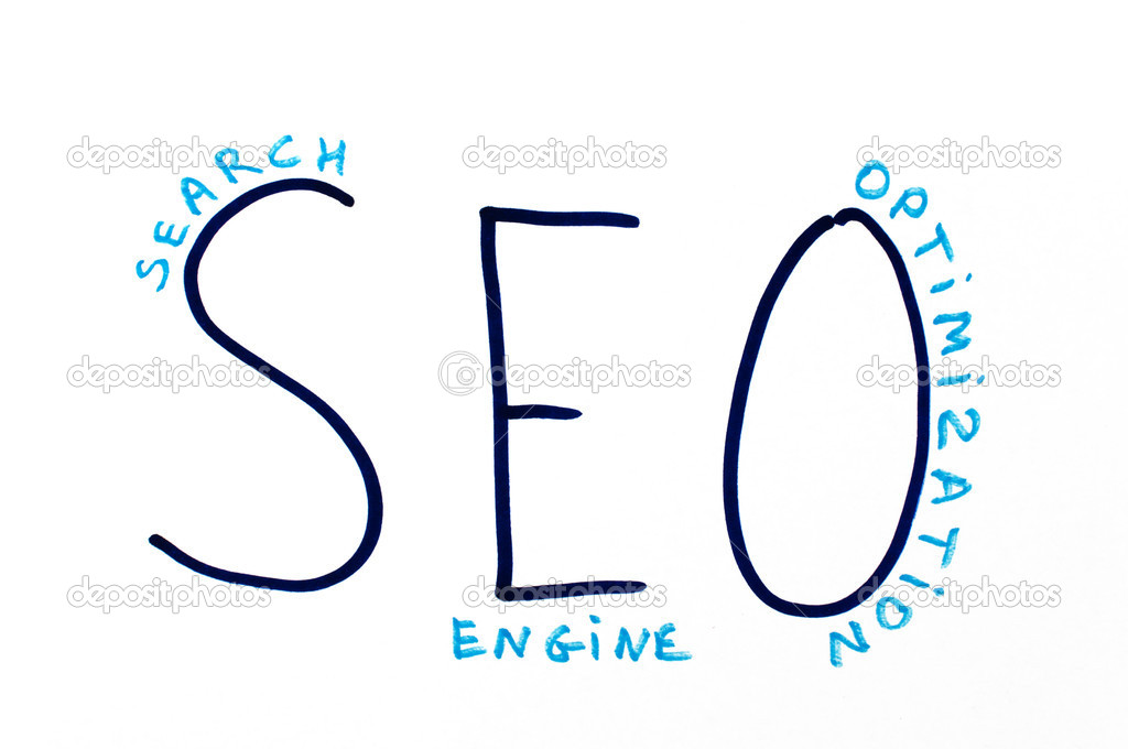 SEO Optimization text  Stock Photo #8506442