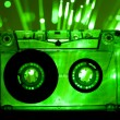 Transparent Cassette tape disco lights background — Stock Photo #8540314