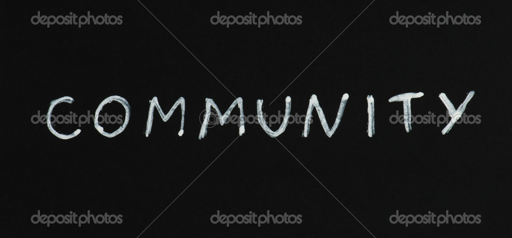 Community white text conception over black — Stock Photo #8540341
