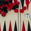Backgammon en dobbelstenen — Stockfoto