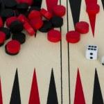 backgammona i kości — Zdjęcie stockowe