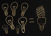 Efficient lamps — Stock Photo
