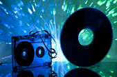 Kaset ve cd — Stok fotoğraf