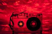 Nastro a cassetta e luci multicolori — Foto Stock