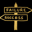 Stock Photo: Failure and success conception sign and texts