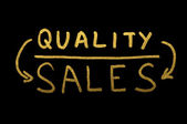 Quality and Salesconception text — Stock Photo
